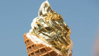 Gold leaf ice cream