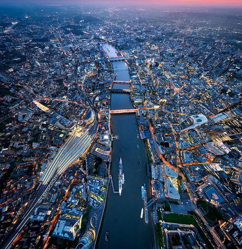London Above Sunset