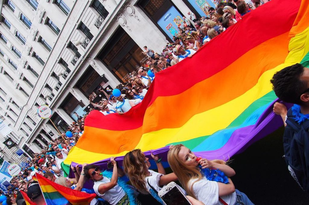Pride Flag Banner London