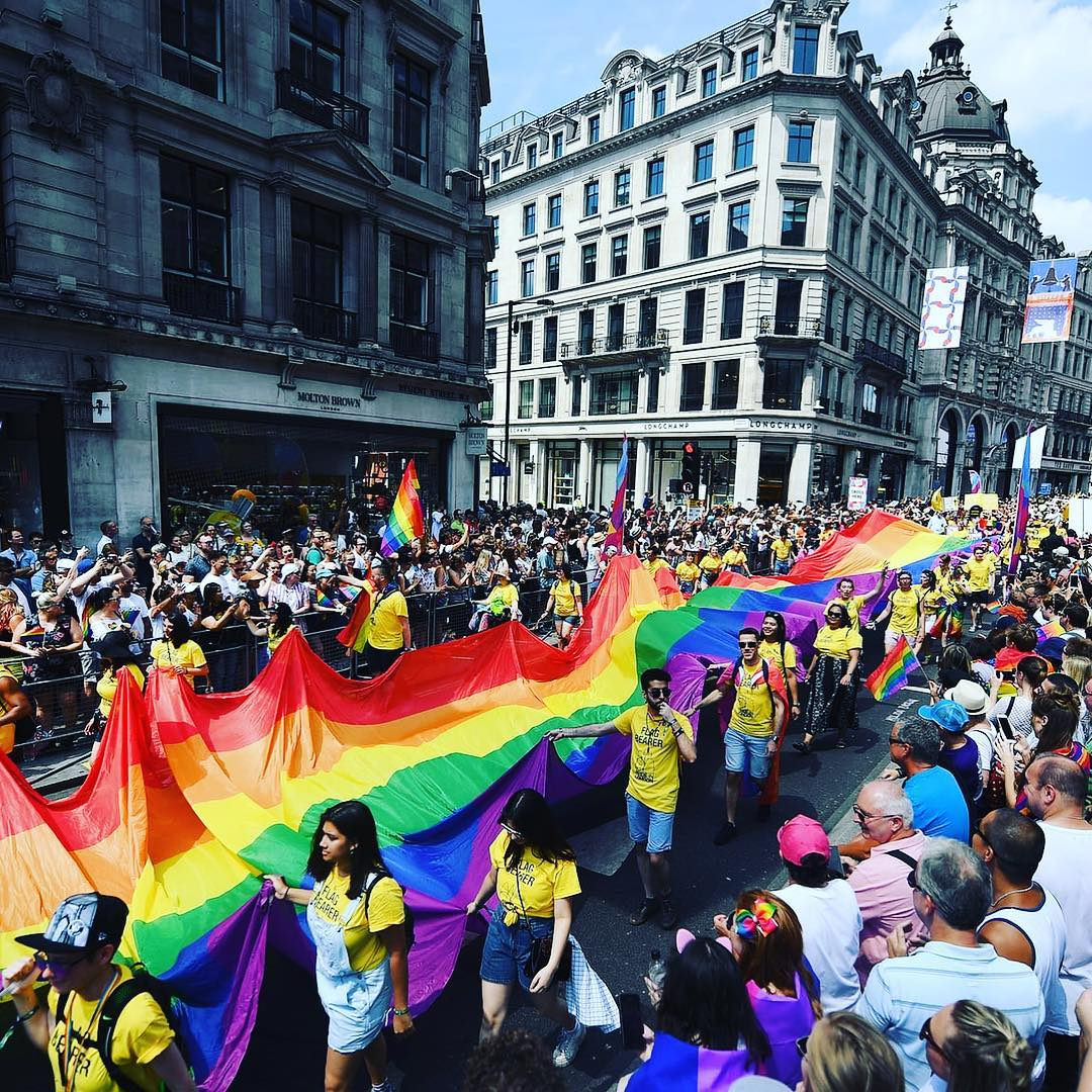 Pride Flag Parade london