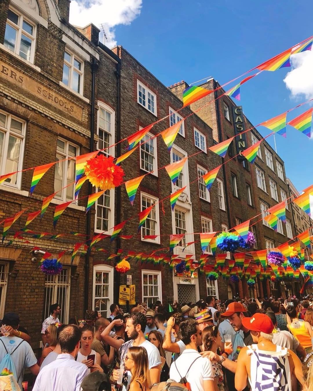 Pride flags soho