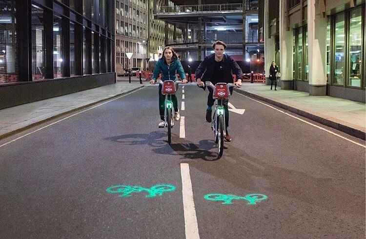 Santander Cycle lights