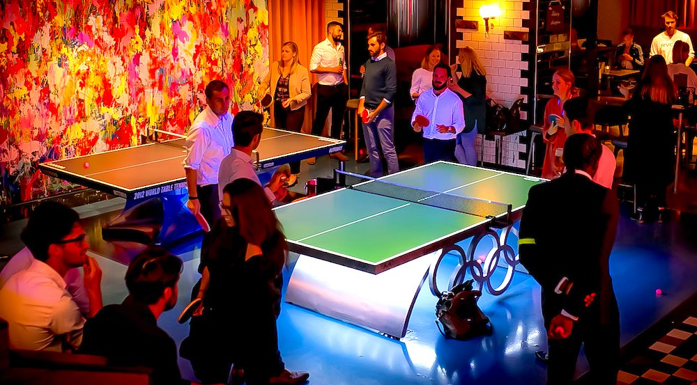 Bounce London S Luxury Ping Pong Bars