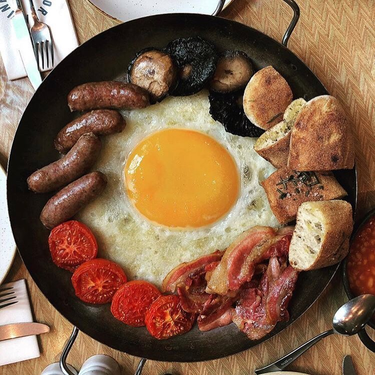 London ostrich egg breakfast
