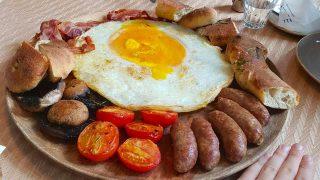 Ostrich Egg Breakfast
