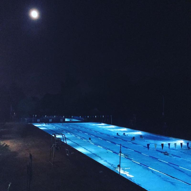 Hampton Pool moonlight swim