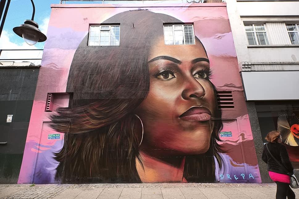 Michelle Obama Mural