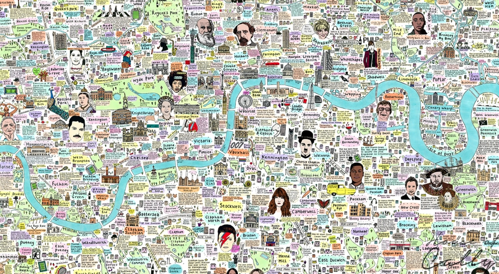 Map To London.This Illustrated Map Of London Will Teach You Something New With