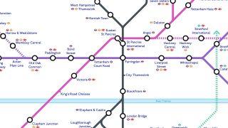 Crossrail tube map