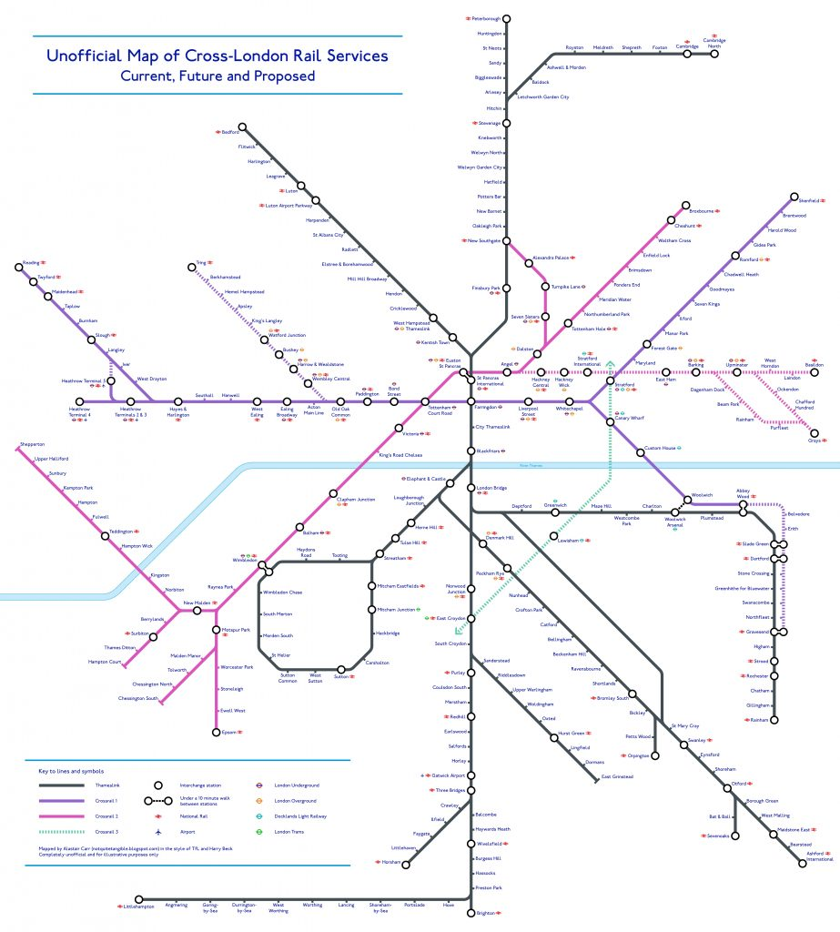 Crossrail tube map