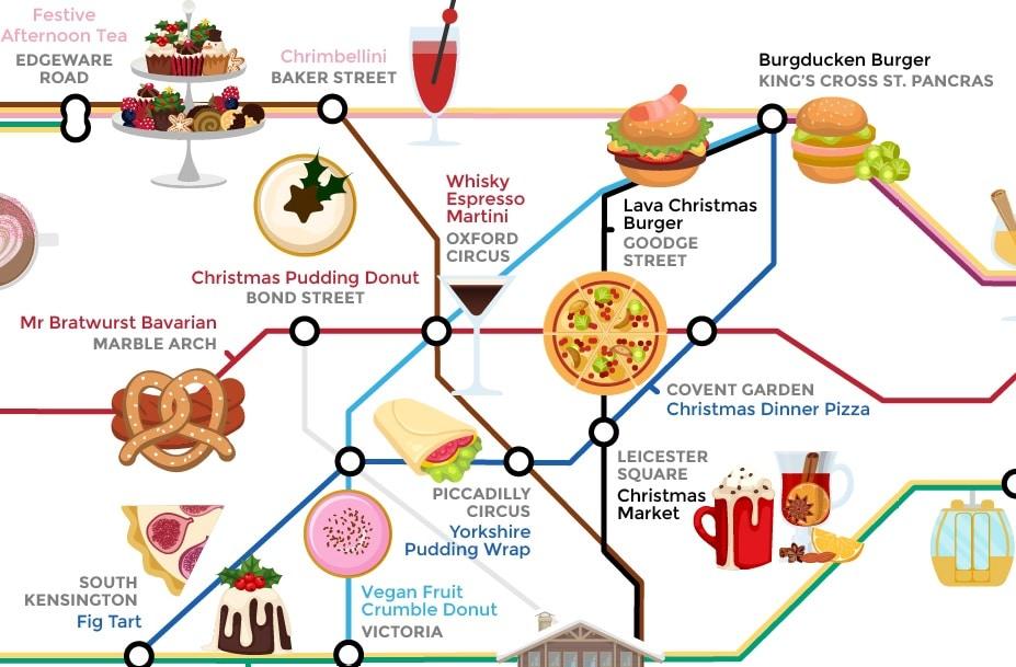 food tube diagram festive food tube map see all of london s seasonal treats  festive food tube map see all of