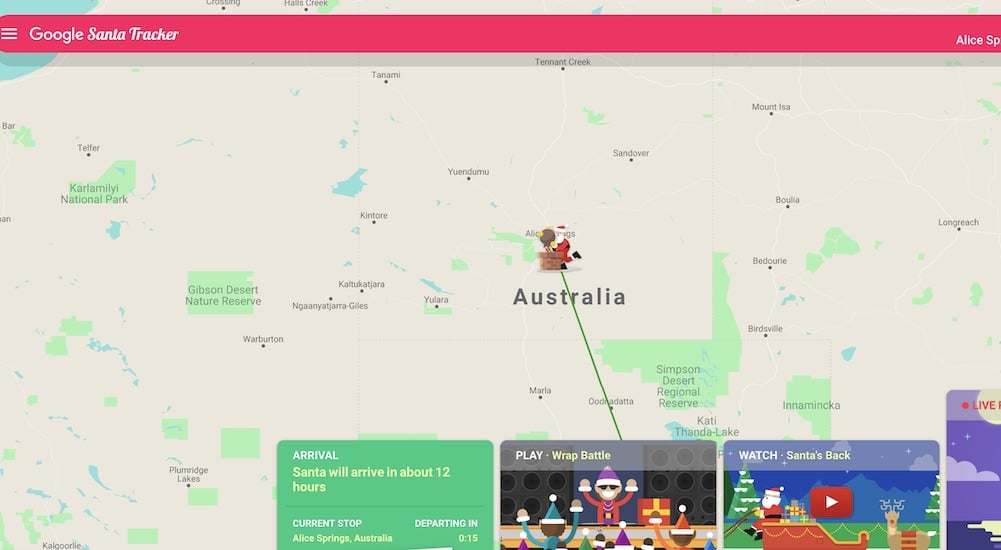Track Santa's Location Live With This Cute Little Web App - Secret on