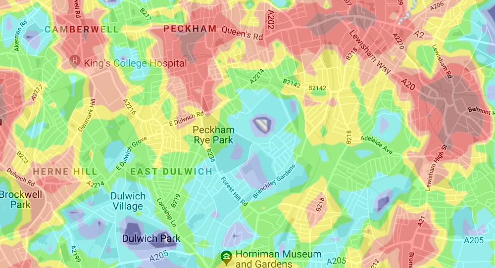 London Map Areas.This Map Reveals All Of London S Best And Worst Areas For