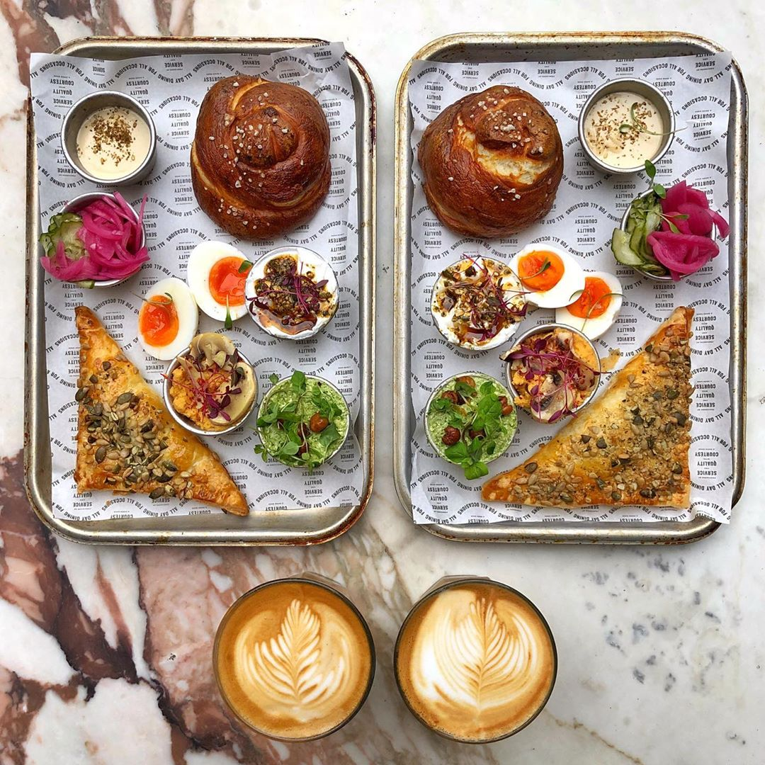 The Boureka Plate with extra pretzels and dips from The Good Egg ?