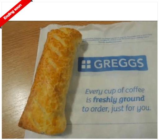 greggs sausage roll vegan ebay