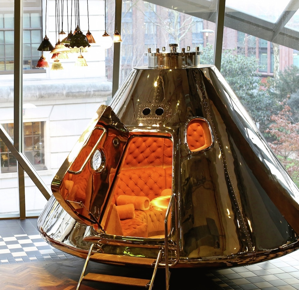 You And Your Crew Can Get Squiffy In A Cosy Space Capsule