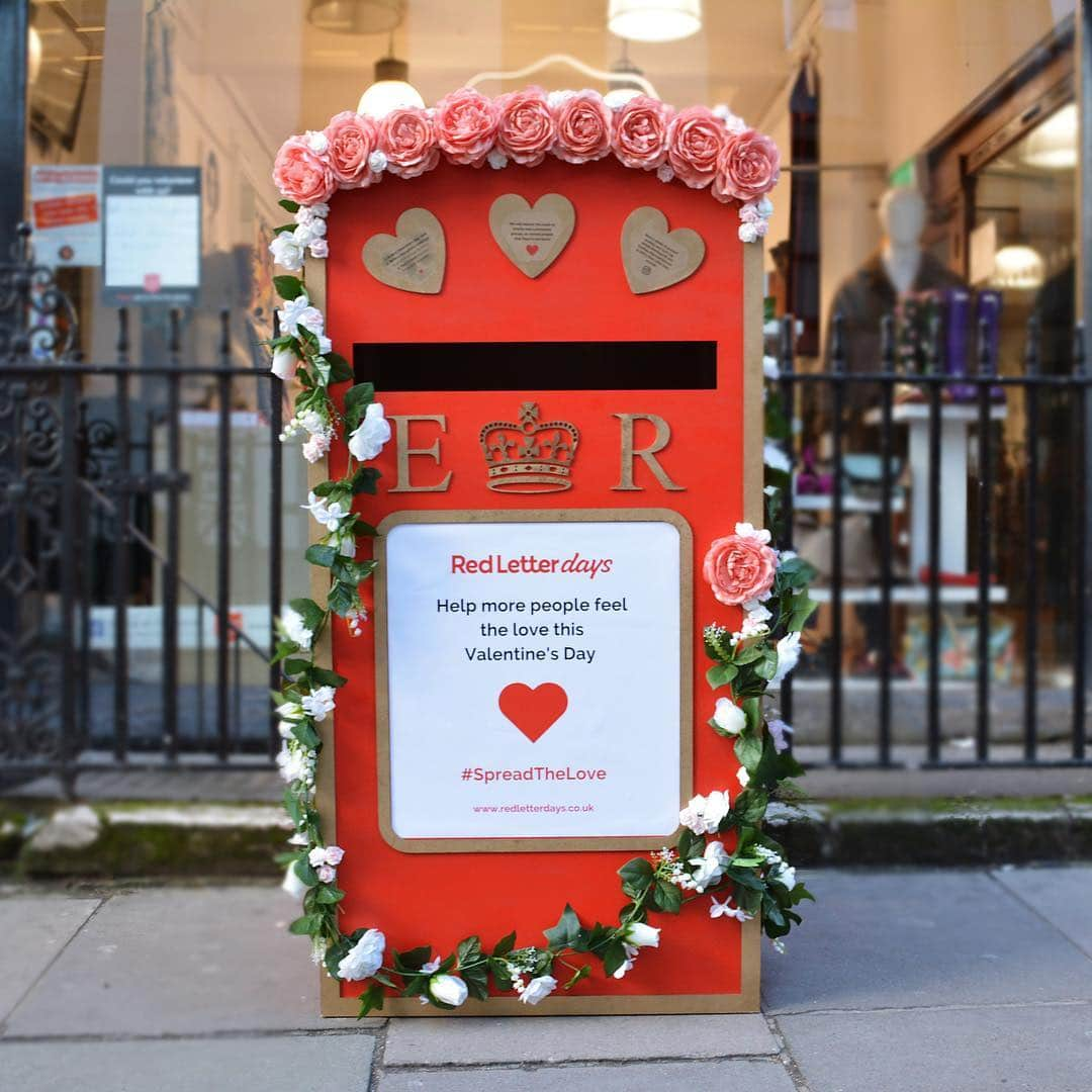 Red Letter Days Valentine's Day Post Box
