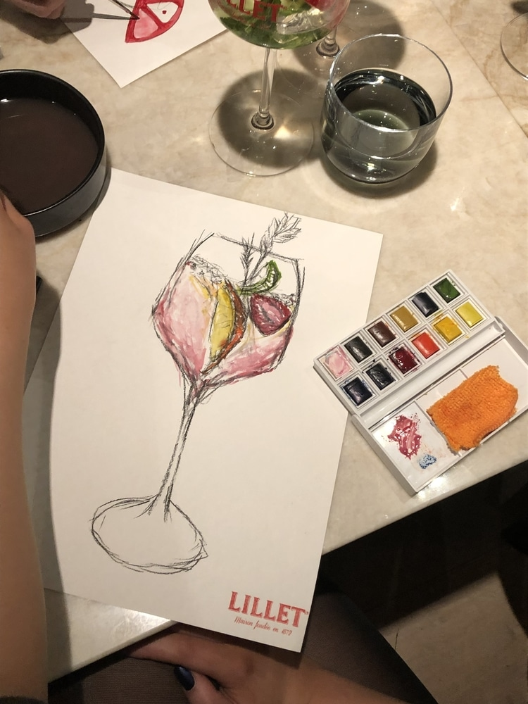 Cocktails and watercolour