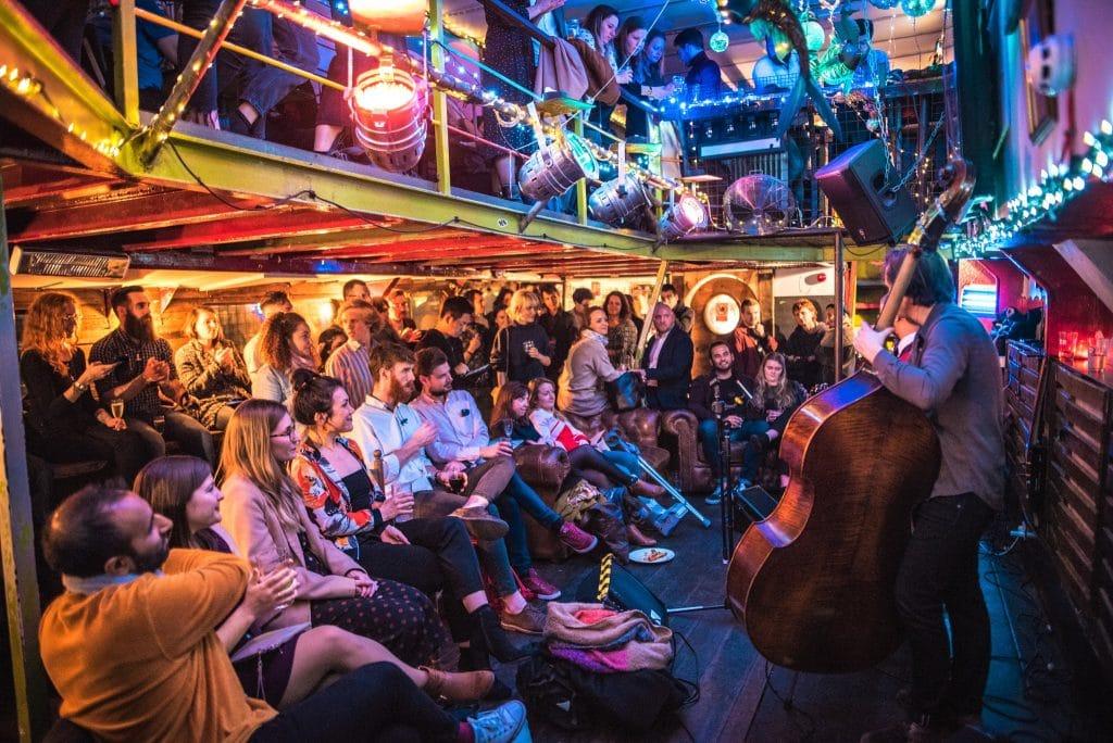 Floating jazz club