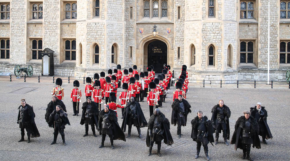 Watch The Night's Watch Join Forces With The British Army At The Tower Of London