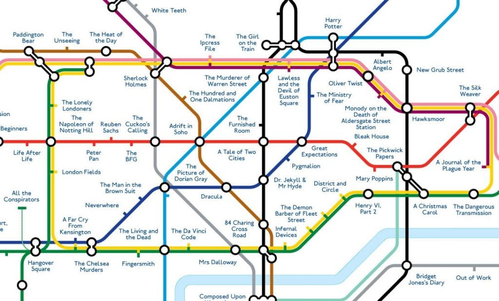 Printable London Subway Map.Literary Tube Map Replaces Station Names With Famous London Books