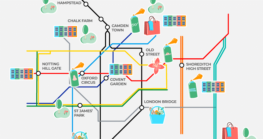 Show Map Of London.This Tube Map Will Show You London S Most Colourful Locations