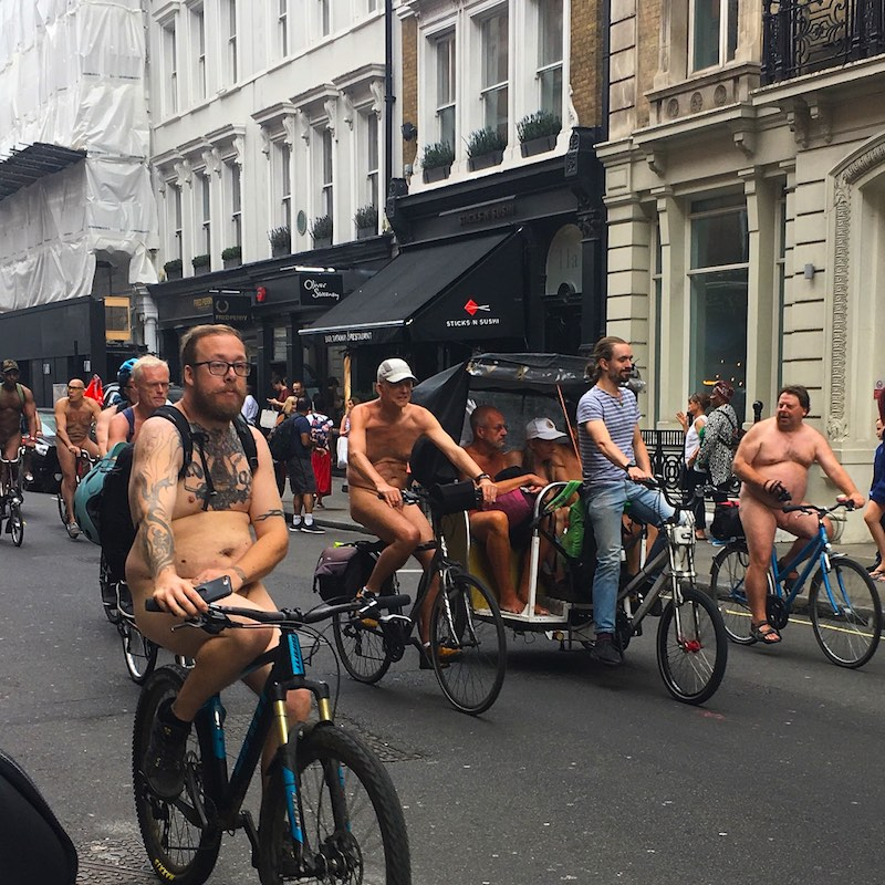 Cyclists Naked London