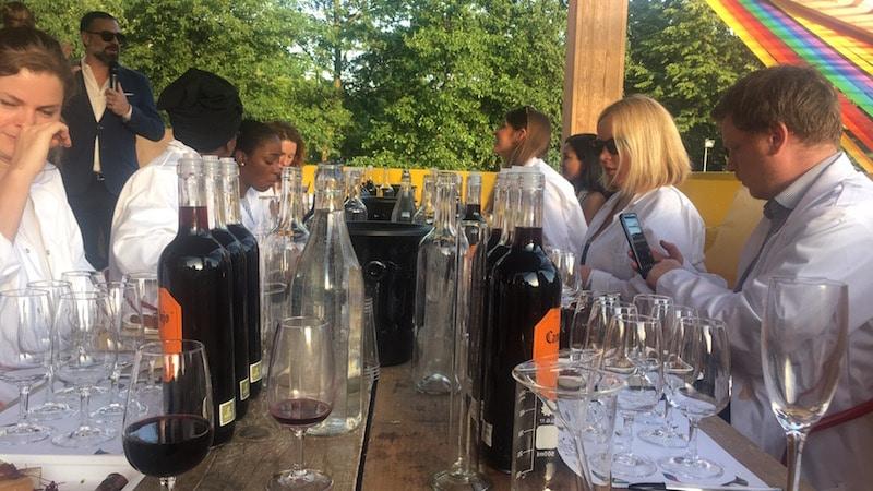 Wine blending lab coats