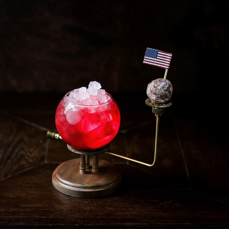 Jupiter Cocktail with American Flag