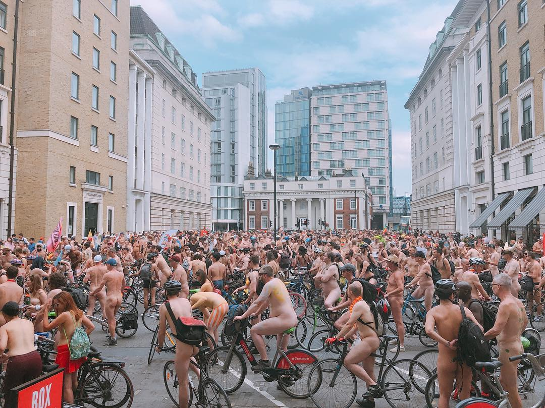 London Naked Bike Ride Photograph