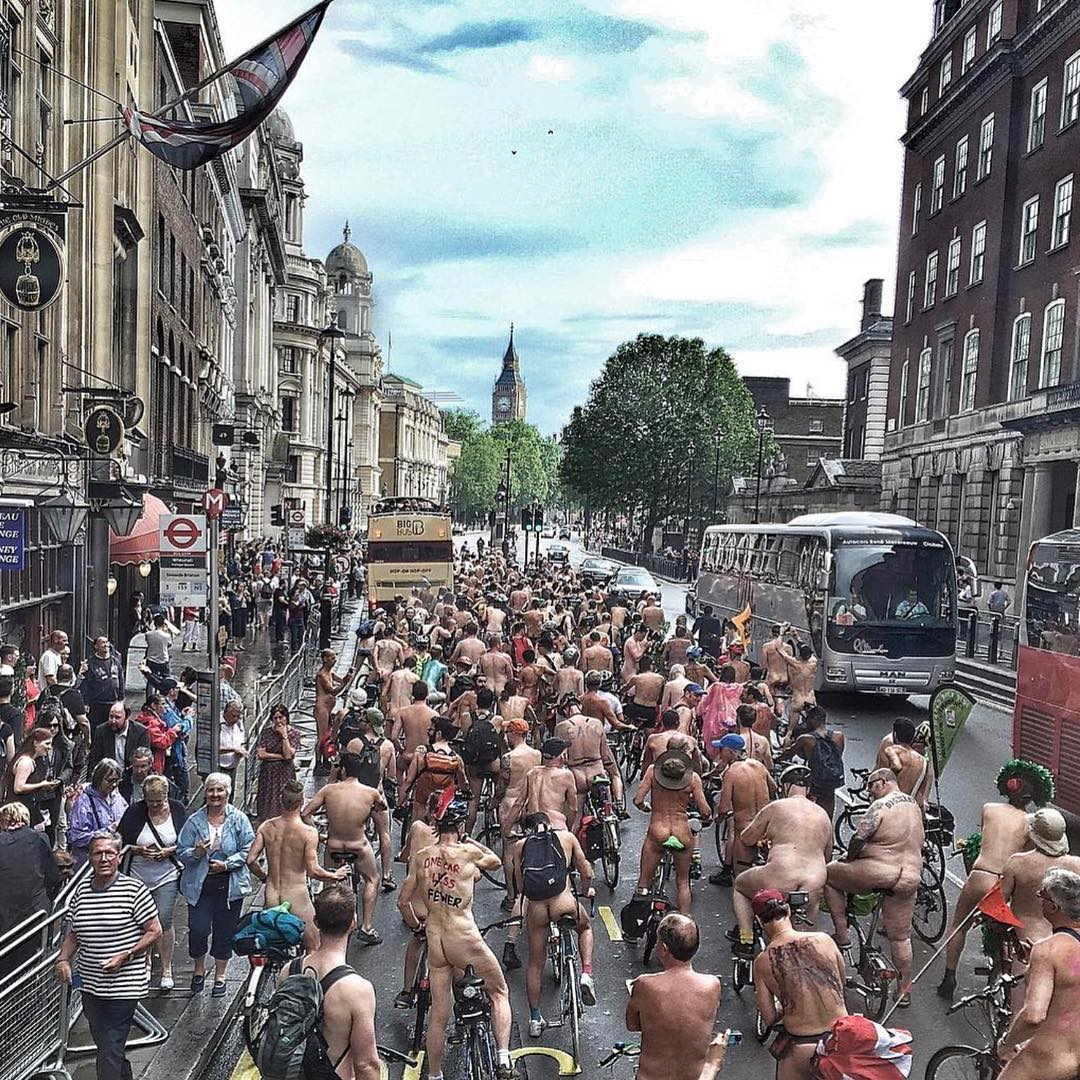 Naked Bike Ride 2018 London Nude