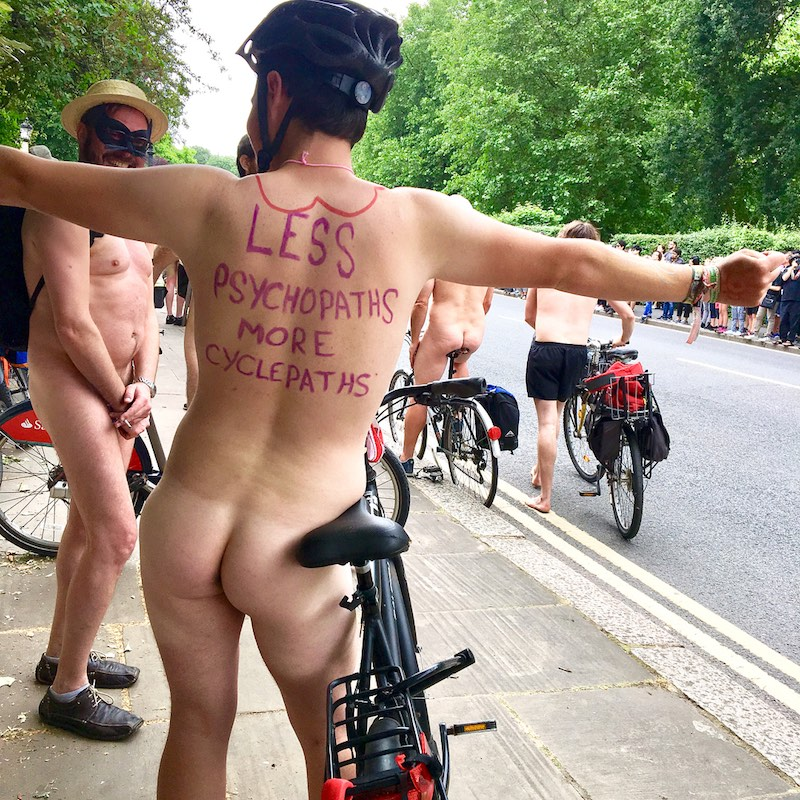 Naked Bike Ride Cycle Paths