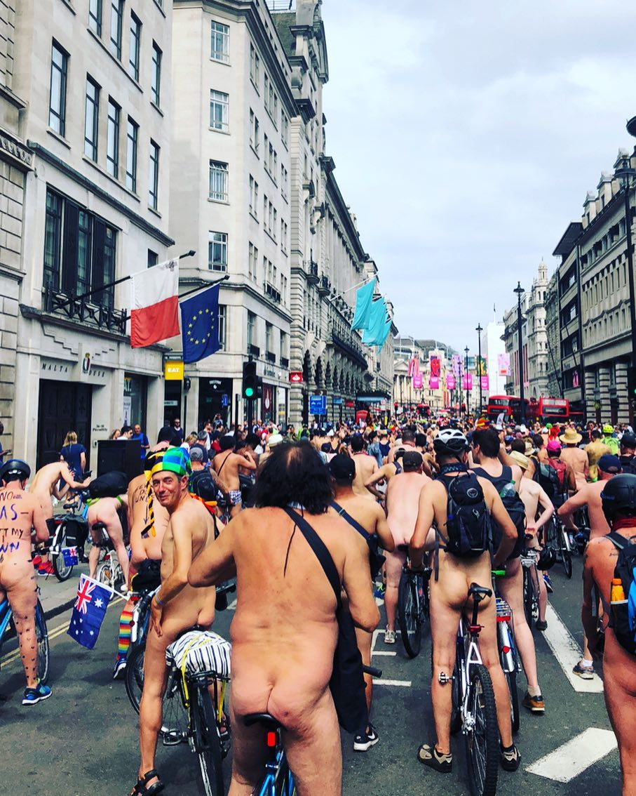 Naked Bike Ride in London 2018