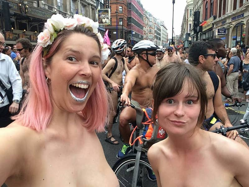 Two Women Naked Bike Ride London