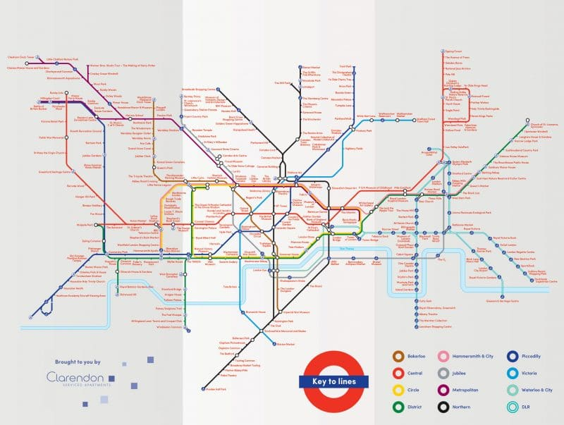 clarendon the ultimate london tube map tourist attractions editi