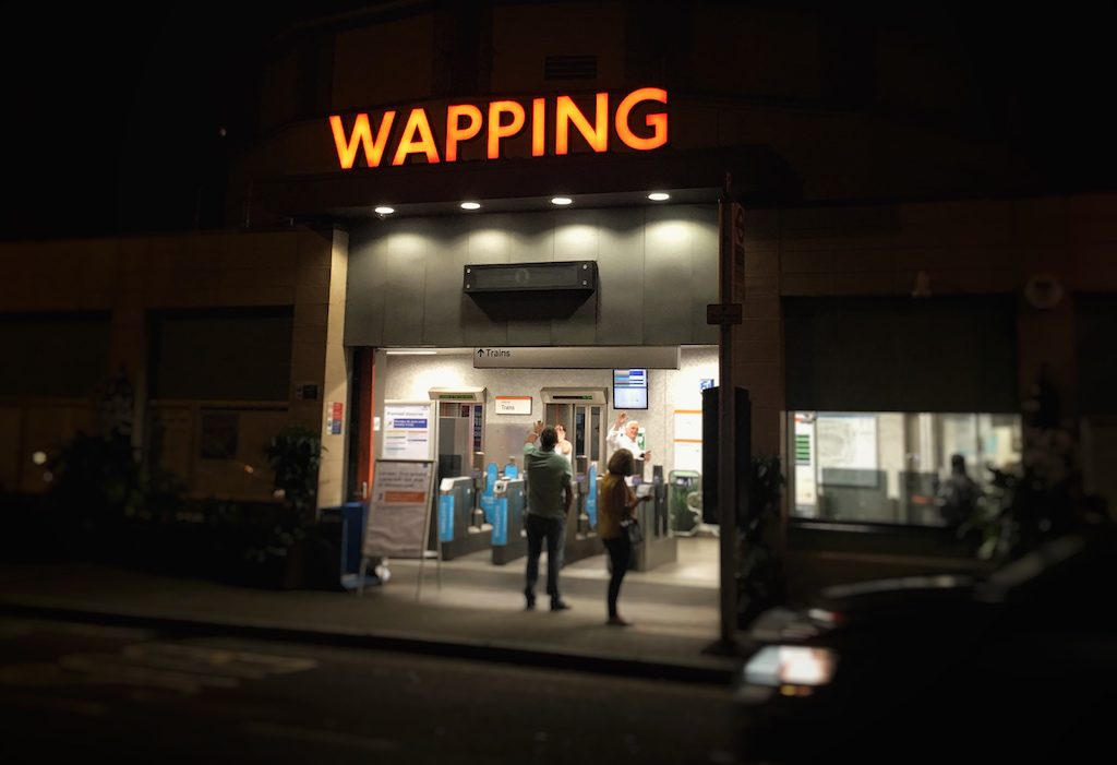 Wapping Overground Station At Night: London Transport
