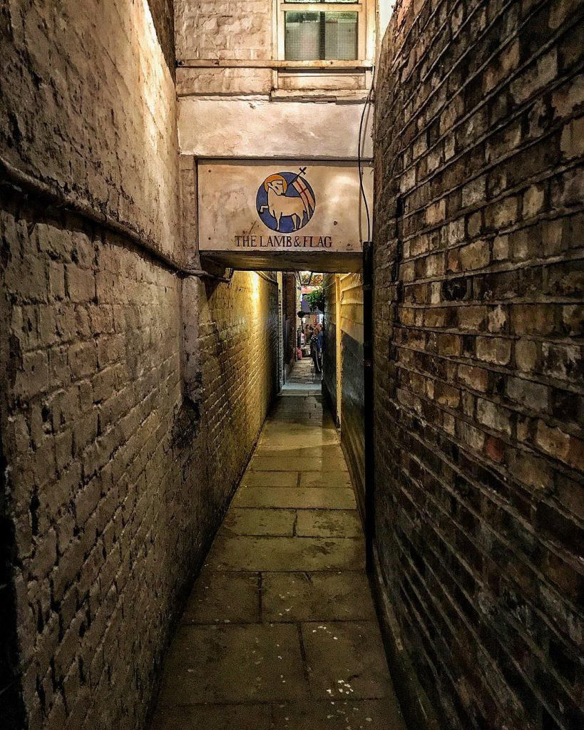 Oldest pubs in London - Lamb and Flag, Covent Garden