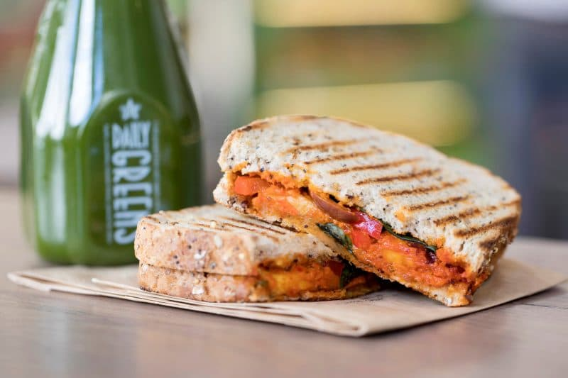 Halloumi, Red Pepper & Basil Toastie, £3.99