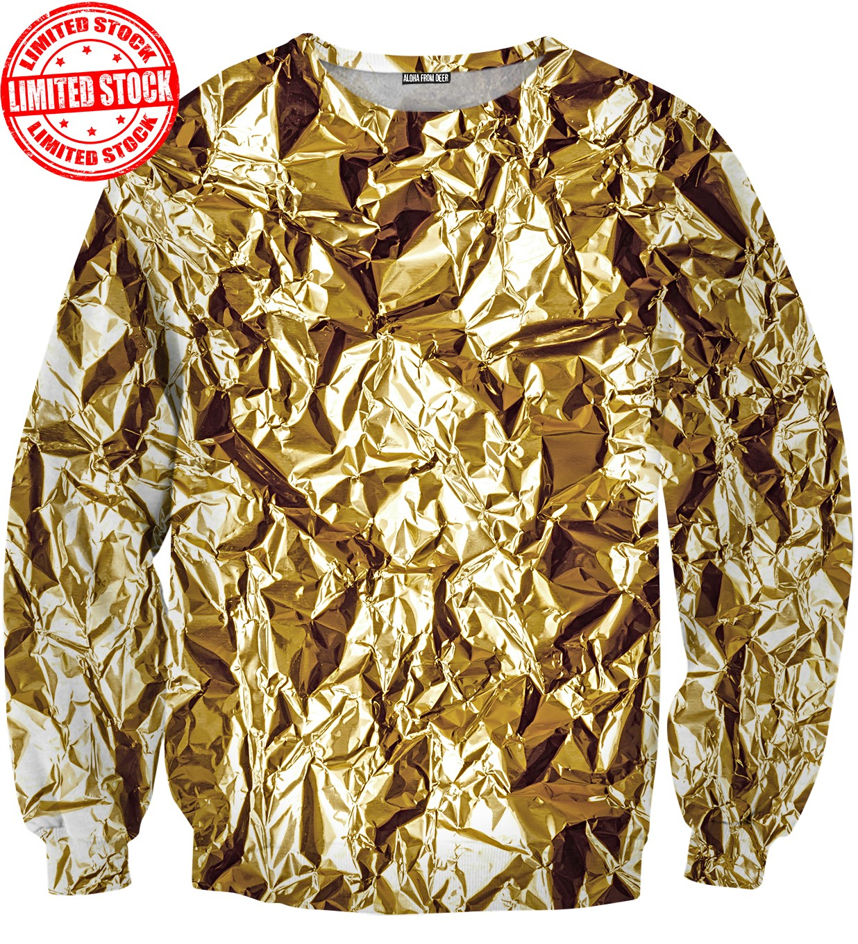 Gold foil sweater