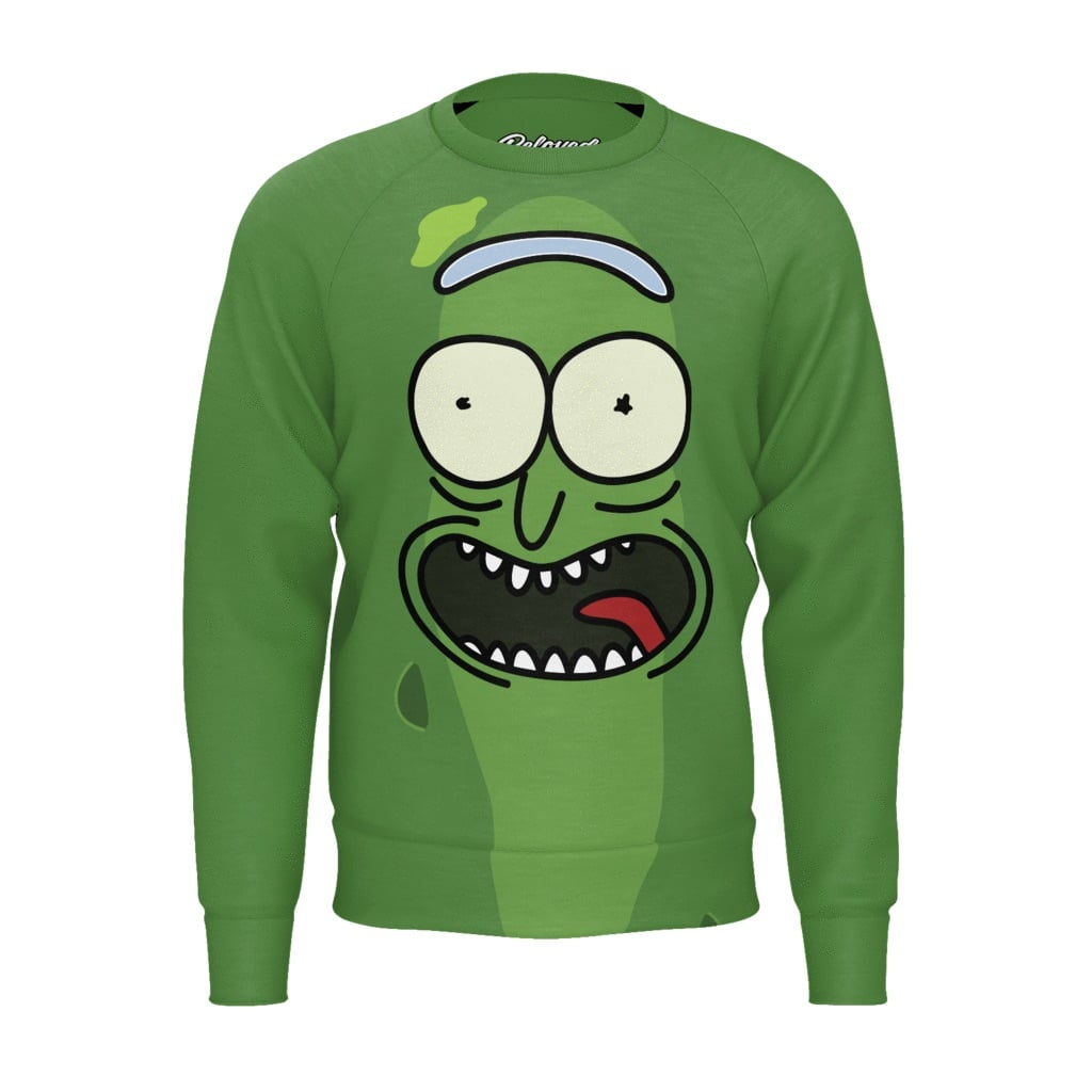 Pickle Rick sweatshirt from Beloved Shirts.