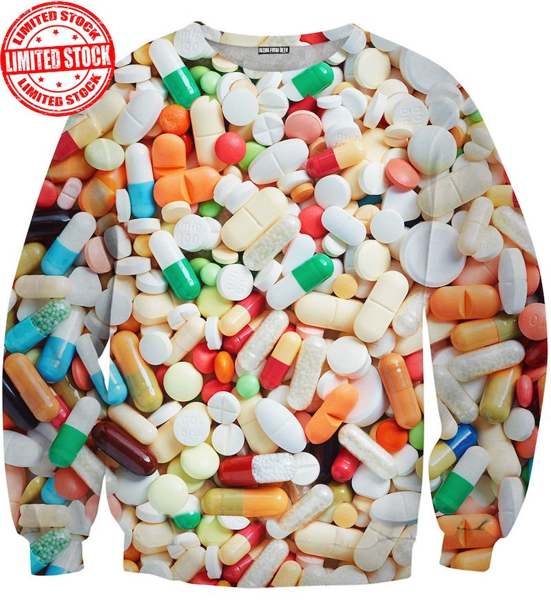Pills print sweater