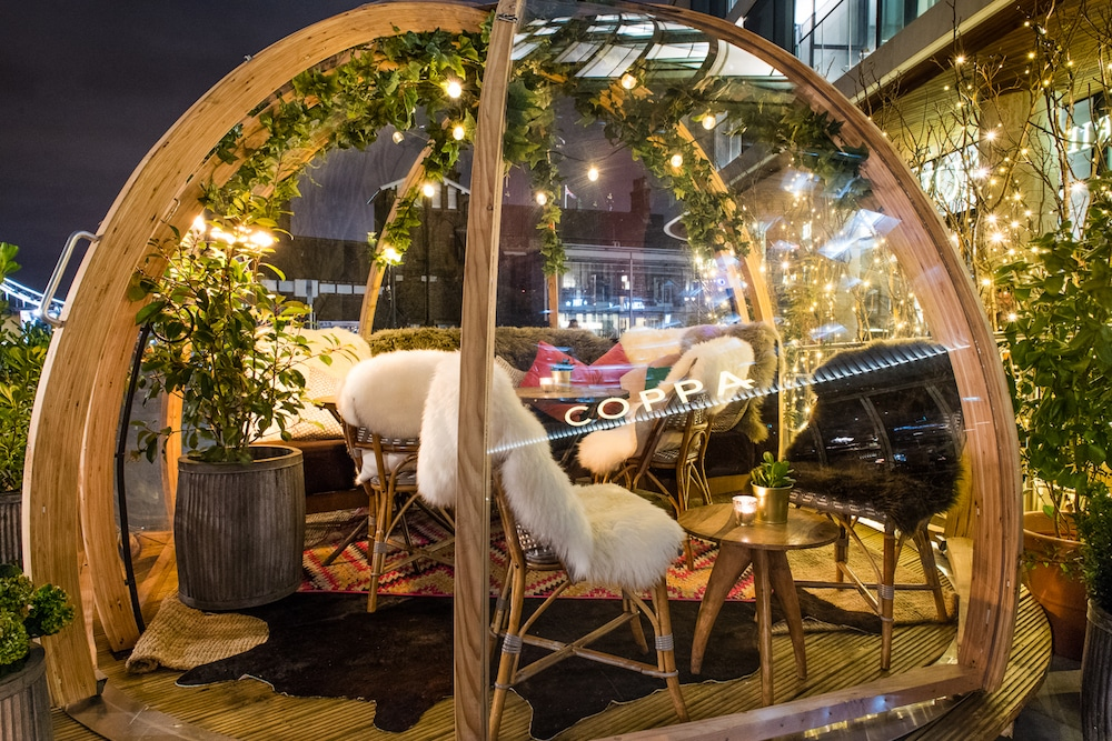 Drink in riverside igloos in London at Christmas