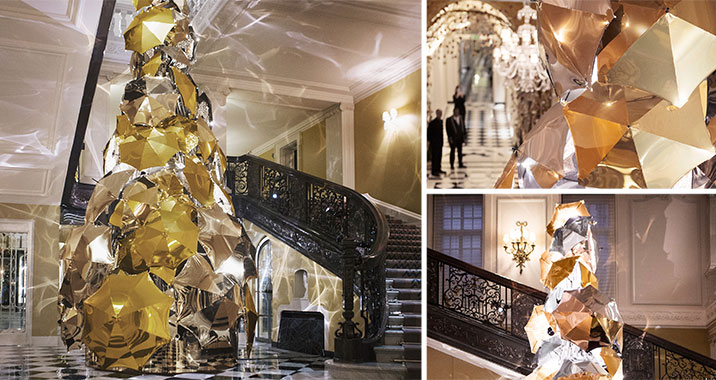 Christopher Bailey Christmas Tree Burberry Claridges