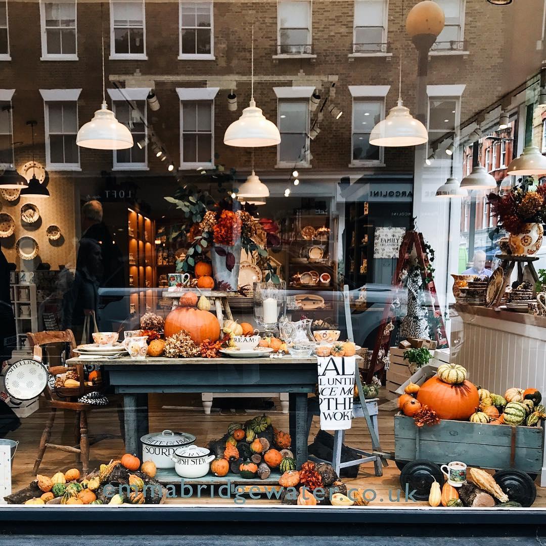 Halloween shop window display in London