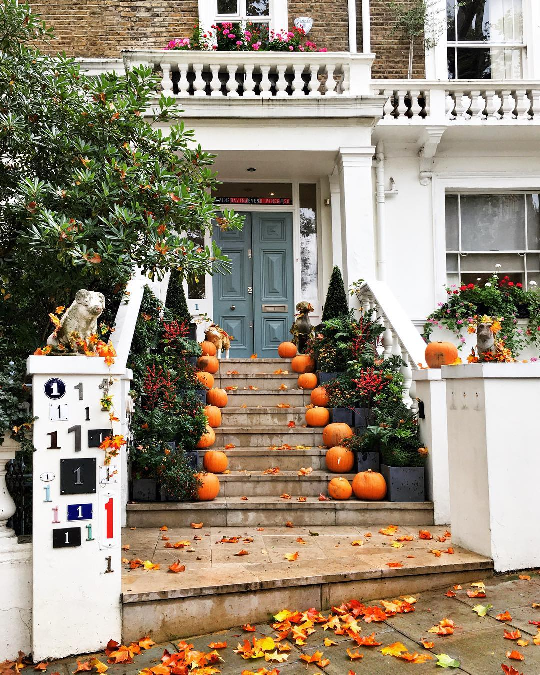 Notting Hill London autumn photo - mylifestylememoir