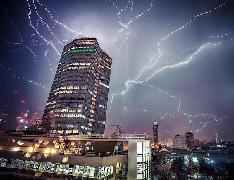 Best London Instagram Photos Lightning Storm