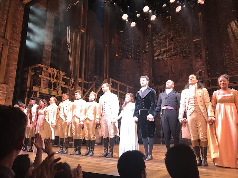 Hamilton London cast ensemble photo