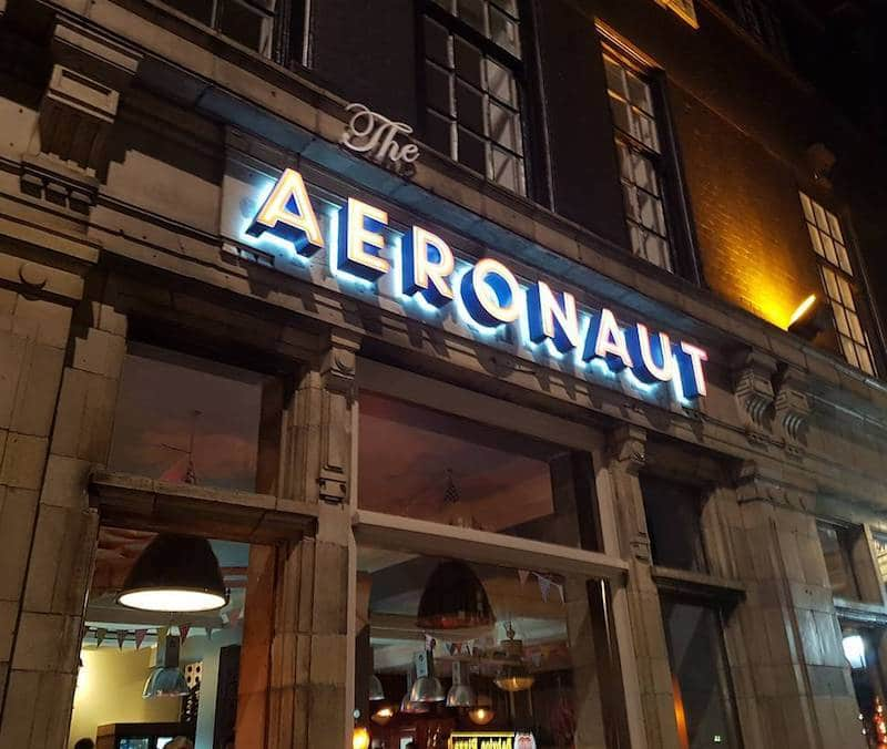 The Aeronaut Pub Sign in West London