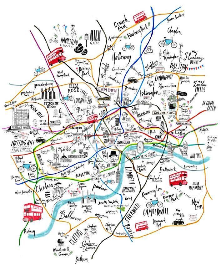Tube Map Illustration London