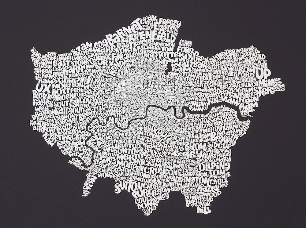 Typographic Map of London
